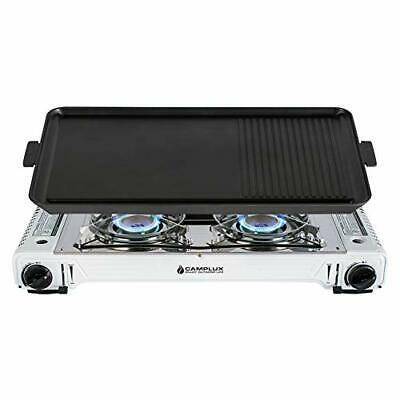 CampLand Butane Gas Stove Portable with Carrying Case for Camping Hiking Travel BBQ