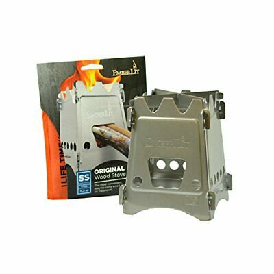 Emberlit Stainless Steel stove,Compact Design Perfect for Survival, Camping,