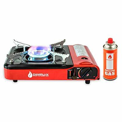 CAMPLUX Portable Outdoor Camping Butane Gas Stove 8000BTU with Carrying Case