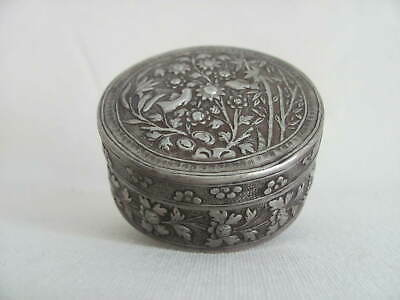 Antique Chinese Repoussed Silver Box / Container