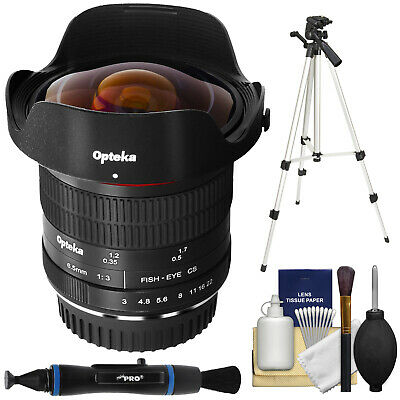 Opteka 6.5mm f/3 HD Aspherical Fisheye Lens for Canon EOS DSLR Cameras