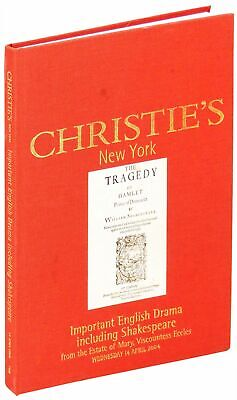 Christie's New York Important English Drama Including Shakespeare