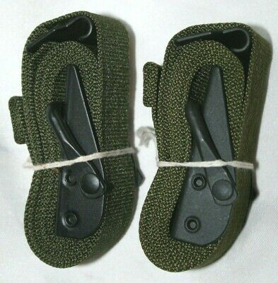 "Vintage Pair of  U.S. Military LC-1 ALICE Pack 52"" Webbing Cargo Strap Tie Downs"