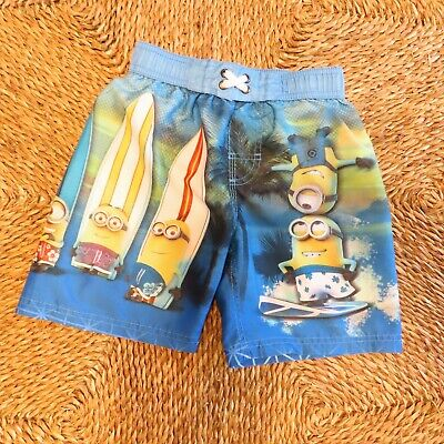 524807662a62e Despicable Me - Minions - Boys Swim Trunks - Boardshorts - Blue/Yellow -  Size