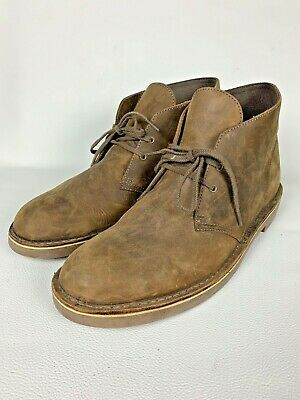4106fd6d139 CLARKS BUSHACRE 2 Mens Size 15 Chukka Boot Gray Leather Shoes WORN ...
