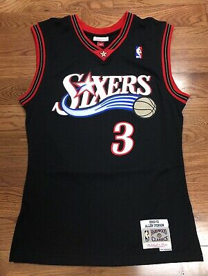 sports shoes 0d256 8152a Philadelphia Sixers Allen Iverson Mitchell   Ness Swingman Jersey