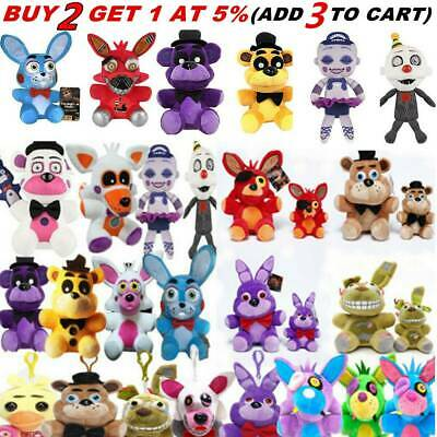 """4.7"""" 7""""10"""" Five Nights at Freddy's FNAF Horror Game Plush Soft Kids Plushie Toy"""