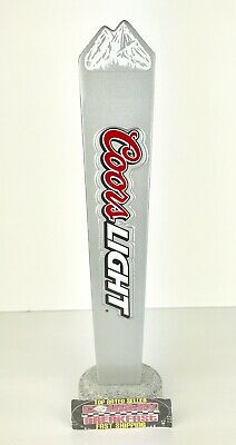 "Coors Light Rocky Mountains Logo Beer Tap Handle 12"" Tall Excellent Condition!"