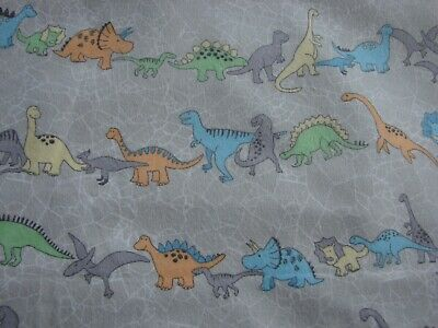 Flannelette Fitted Multi-Coloured Dinosaur Train Grey Cot Sheet Handmade