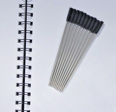 10 black  ballpoint refills, 0.7mm point, compatible with Cross pens