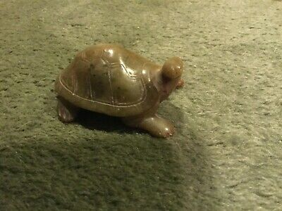 Hand Carved Stone Light Brown Turtle