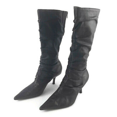 6fffafc3827 NINE WEST MUST Know Black Tall Slouch Knee High Boots Women 9 ...