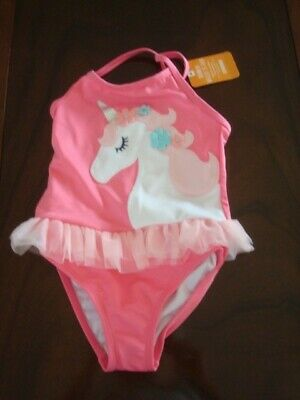 81a6e7780bed2 NWT Gymboree UPF 50+ Unicorn Pink Ruffle Onepiece Swimsuit-Toddler Girl  size 3T