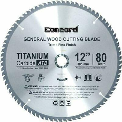 "WCB1200T080HP Circular Saw Blades 12-Inch Teeth TCT General Purpose Hard "" Soft"