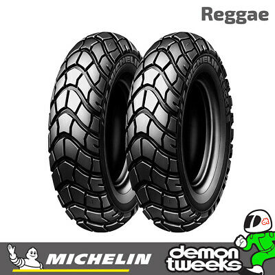 Michelin Reggae Scooter / Moped Tyre 130 90 10 61J TL - Fits Front / Rear