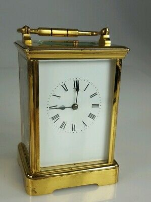 Antique brass Repeat Carriage Clock Working order SJRETY PULLER