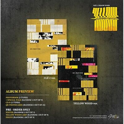 Stray Kids[Cle 2:Yellow Wood]Normal Random CD,Book,Card,etc,PreOrder eldo