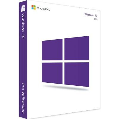 Microsoft Windows 10 Professional Vollversion MS Key Lizenz E-Mail Pro Deutsch