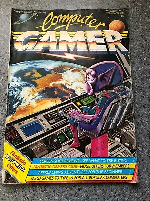 Vintage April 1985 Computer Gamer Magazine no 1 RARE first issue.