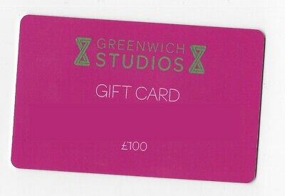 New - 2 x Greenwich Studios London Gift card/Voucher (MASSIVE £100 VALUE)