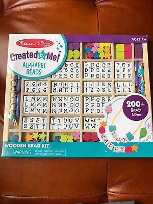 Melissa Doug Wooden Stringing Beads 3774 Brand New 1375