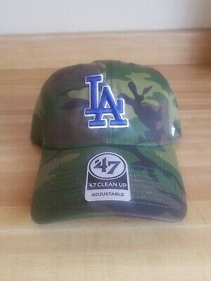 new york 9748b a35e6  47 Brand Los Angeles Dodgers Clean Up Dad Hat Cap Core LA ( Camo design.