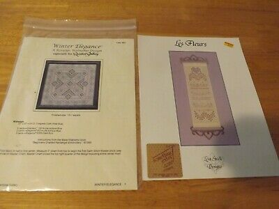 Hardanger  Winter Elegance & Les Fleurs Patterns Lot 2