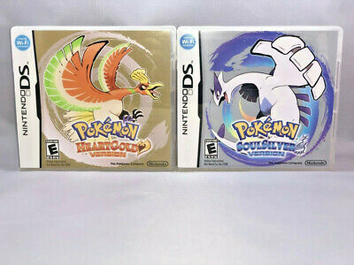 Pokemon HeartGold and SoulSilver Games + Cases Nintendo DS 2DS 3DS DSi USA