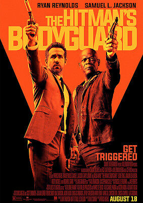 The Hitmans Bodyguard Poster NEW Movie Ryan Reynolds, FREE P+P, CHOOSE YOUR SIZE