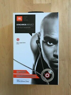 75af7183337 New/Sealed JBL Synchros Reflect In-Ear Wired Sport Headphones With Mic -  Black