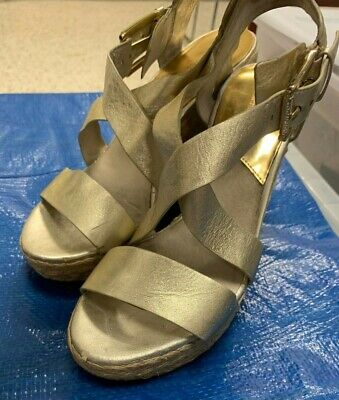 19b7c19edef MICHAEL KORS GIOVANNA Wedge Sandals Ladies Size 10 - $55.00 | PicClick