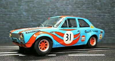 1/32 Ford Escort MK1 GULF Edition für Carrera Digital 132 +Licht + Bremslicht