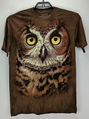 9056ae57 GREAT HORNED OWL T-Shirt / 3D OWL ILLUSION TSHIRT, Tie Dye Art Tee ...