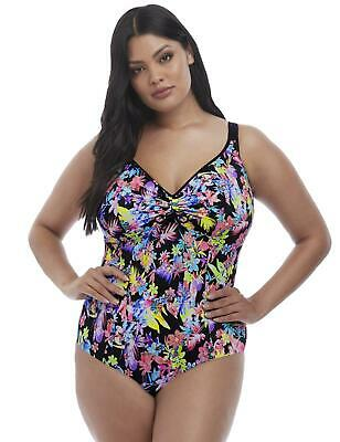 Elomi Abstract Control Soft Cup Swimsuit 7071 Non Wired Moulded Swimming Costume