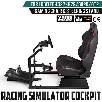 GTA-F Racing Simulator Cockpit Gaming Chair With Stand Stable  Carbon Steel