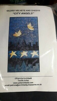 Gilded Velvets and Sheers City Angels Patricia Archibald Small Quilt Kit pattern