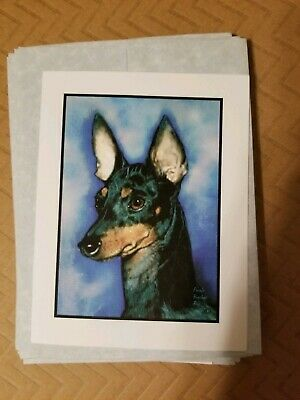 MANCHESTER TERRIER 13 Note Cards With Envelopes, 5 designs.