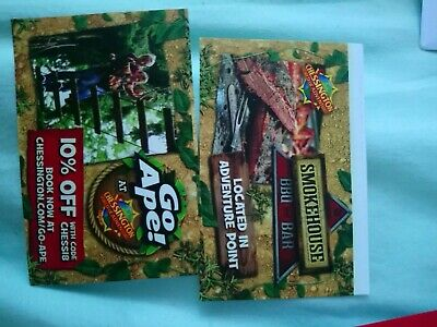 Chessington World of Adventure Tickets x2 Thursday 13th June 2019