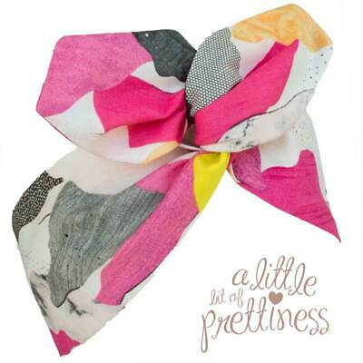 Wired Twist Headscarf Colourful Clouds Rockabilly Retro 50s Style Vintage