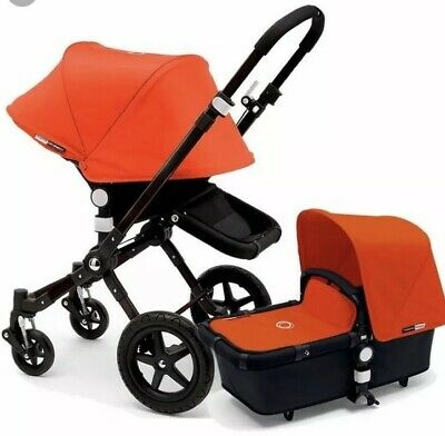 Bugaboo Cameleon 1 2 3 Orange Tailored Fabric Set Sun Canopy Hood + Apron *NEW*