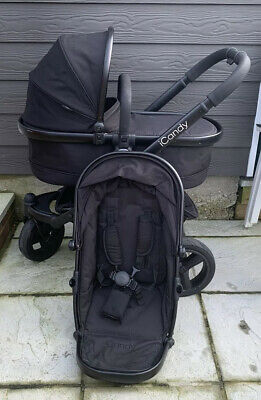 Icandy Peach Jogger Seat & Carrycot Black