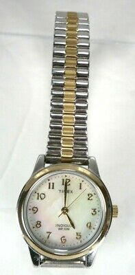 49c76655e Women's TIMEX INDIGLO WR30M Wrist Watch Expansion Band women's watch  gold/silver