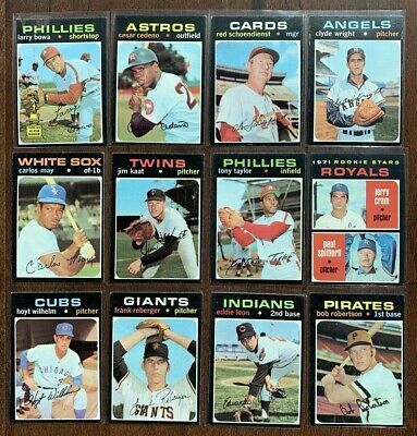 1971 Topps Baseball Cards Pick n Choose (233 - 255) - EXMT to Mint (SKU #35)