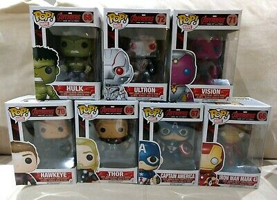 NEW FUNKO POP Avengers Age Of Ultron Lot of 7 Vaulted: Captain America Iron Man