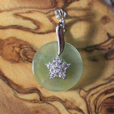 Genuine Natural Jade Grade A Untreated Icy Jadeite Small Circle Donut Pendant