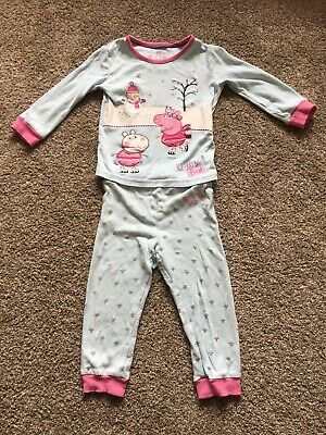 Girls Age 1 1/2 - 2 Years Peppa Pig Pj Set From M&S