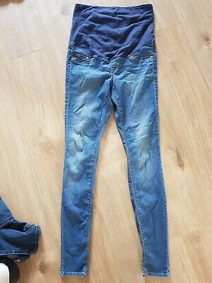 1541bd1466eae Mama H&M Maternity Leigh over The Bump super Skinny Jeans Size 10-12 Eur 38