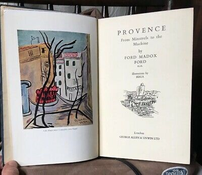 1938 FIRST EDITION - PROVENCE by FORD MADOX FORD Illustrated by BIALA - in VGC