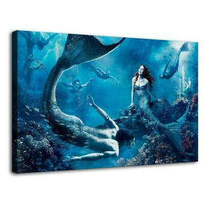 "Creature Mermaid HD Canvas prints Painting Home Decor  Picture Wall art 16""x26"""
