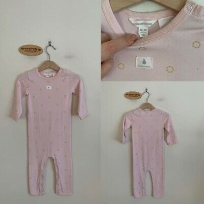 Sz 1 Country Road Pink With Gold Foil Print Bodysuit